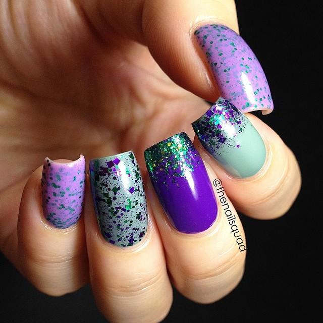 Barney nail art